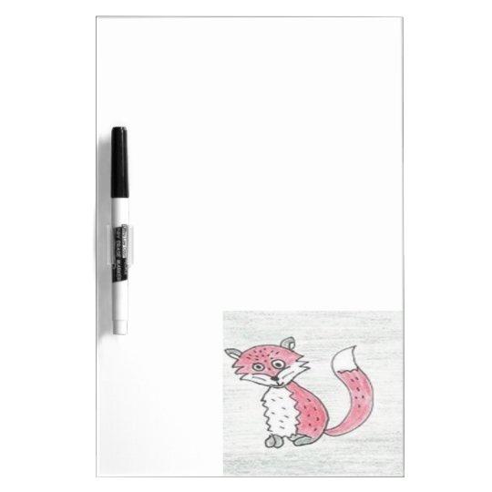 Funky Foxes Pattern Dry Erase Board