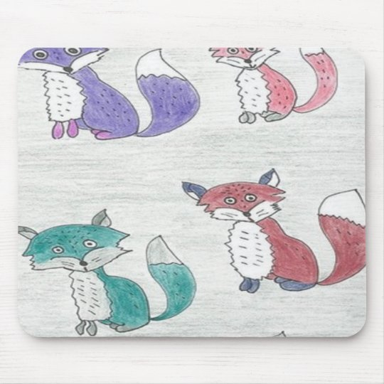 Funky Foxes Pattern Mouse Pad