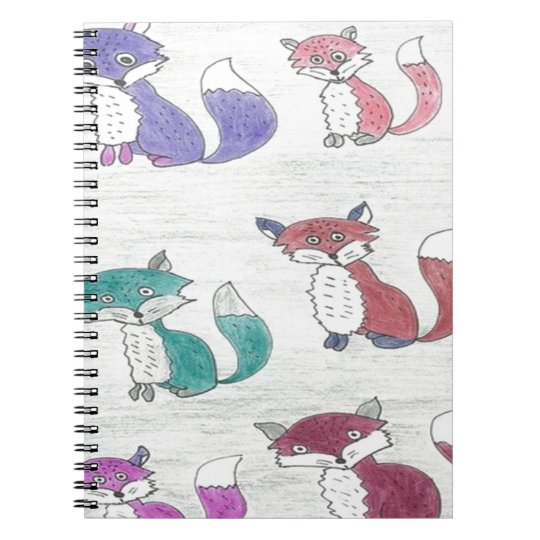 Funky Foxes Pattern Notebook