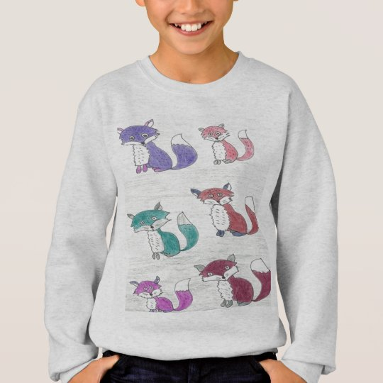 Funky Foxes Pattern Sweatshirt
