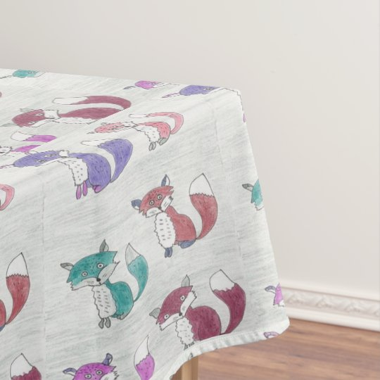 Funky Foxes Pattern Tablecloth