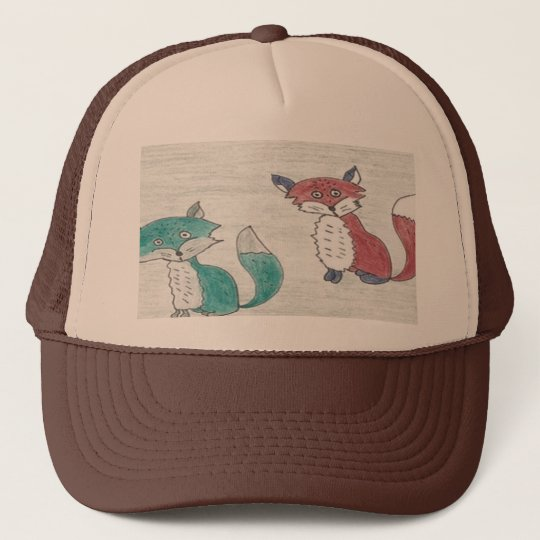 Funky Foxes Pattern Trucker Hat