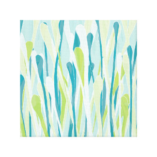 Funky Fresh Grasses Design Wrapped Canvas
