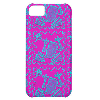 Funky Frog Colorful Toad Kids Doodle Cover For iPhone 5C