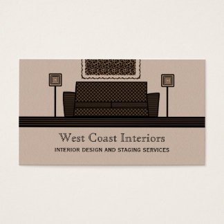 Funky Furniture Business Card, Latte Business Card