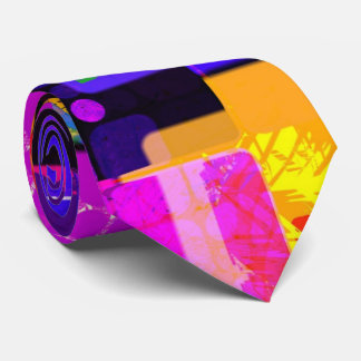 Funky Geometric Multicolored Design Tie