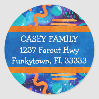 Funky Geometrics Return Address Label