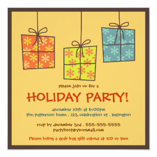Funky Gifts Retro Holiday Grab Bag Party Card