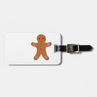 Funky Gingerbread Luggage Tag