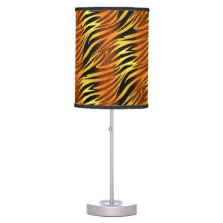 Funky Gold & Black Zebra Animal Pattern Table Lamps