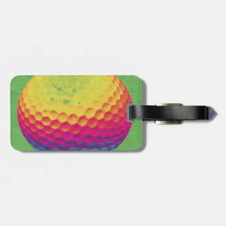 Funky Golf ball Luggage Tag