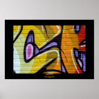 funky graffiti poster print
