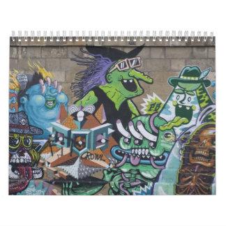 Funky Graffitis In Vienna Austria 2018 Wall Calendars