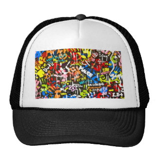 funky graffitis trucker hat