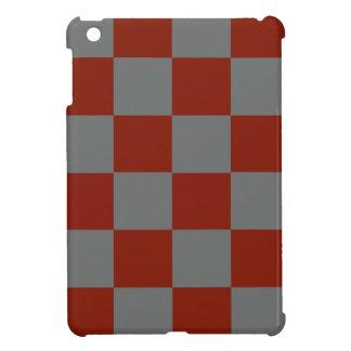 Funky Gray Burgundy Blocks iPad Mini Cases