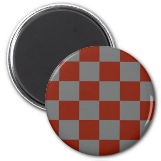 Funky Gray Burgundy Blocks Magnet