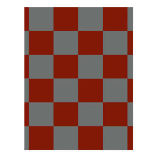 Funky Gray Burgundy Blocks Postcard