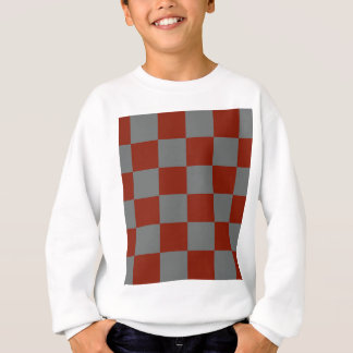 Funky Gray Burgundy Blocks Sweatshirt