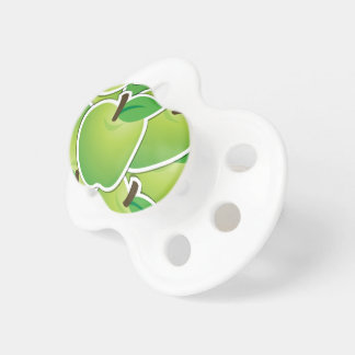 Funky green apples pacifiers