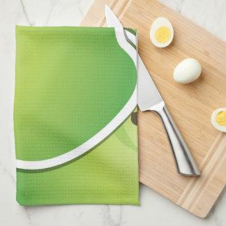 Funky green apples towel