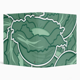 Funky green cabbage binder