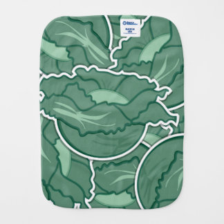 Funky green cabbage burp cloths