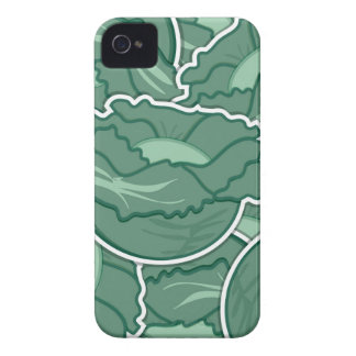 Funky green cabbage Case-Mate iPhone 4 cases