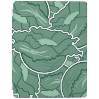 Funky green cabbage iPad cover