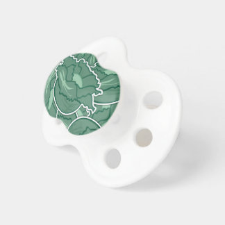 Funky green cabbage pacifiers
