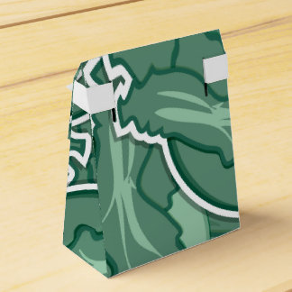 Funky green cabbage party favor box