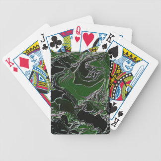 Funky Green Camo Bicycle Playing Cards