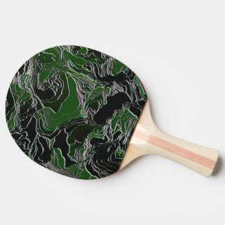 Funky Green Camo Ping Pong Paddle