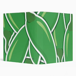 Funky green chilli peppers 3 ring binder