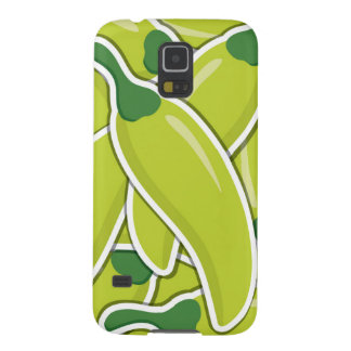 Funky green chilli peppers galaxy s5 covers