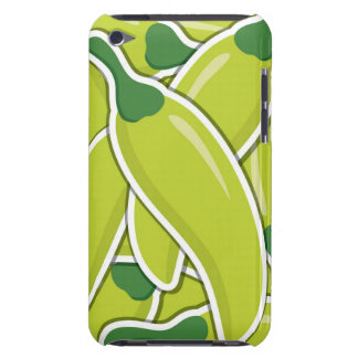 Funky green chilli peppers iPod Case-Mate cases