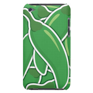 Funky green chilli peppers iPod touch Case-Mate case