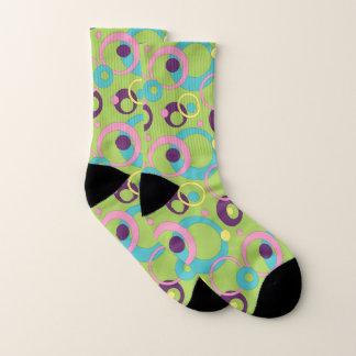 Funky Green Circles Socks 1