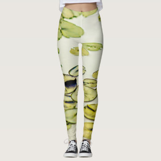Funky Green Lily Pad in Water Leggings
