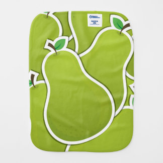 Funky green pears baby burp cloths