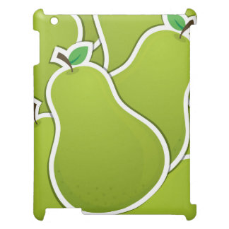 Funky green pears iPad cases