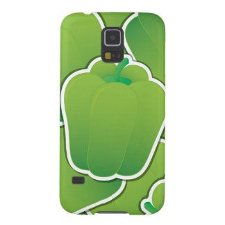 Funky green pepper galaxy s5 cases