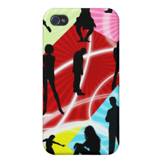 funky groovy Pern 4 casing Case For The iPhone 4