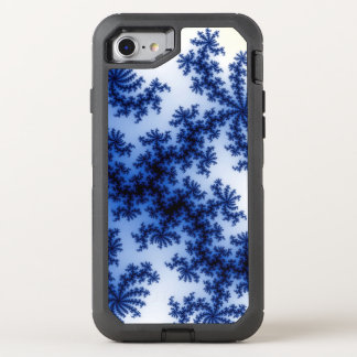 Funky Groovy Retro Delft Blue Fractal Art OtterBox Defender iPhone 8/7 Case