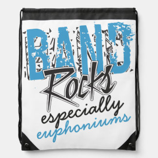 Funky Grunge Euphoniums Funny Marching Band Rocks Drawstring Bag