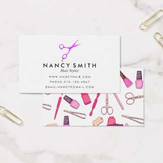 Funky Hair Stylist Business Card