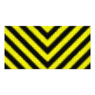 Funky Hazard Stripes Design Picture Card