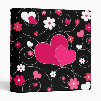Funky hearts and flowers - Binder
