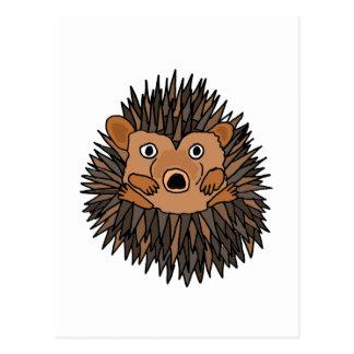 Funky Hedgehog Art Design Postcard
