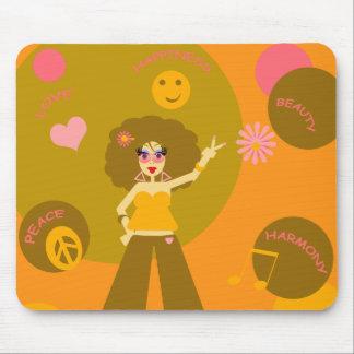 Funky Hippie Girl Mousepad
