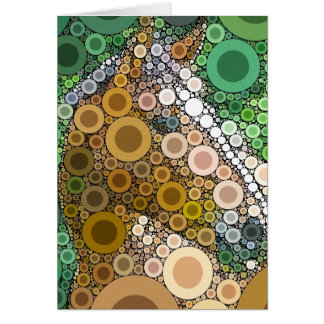 Funky Horse Circles Bubbles Modern Art Card